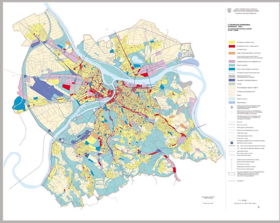 mapa grada beograda Beograd kroz planove – Urbanistički zavod Beograda mapa grada beograda