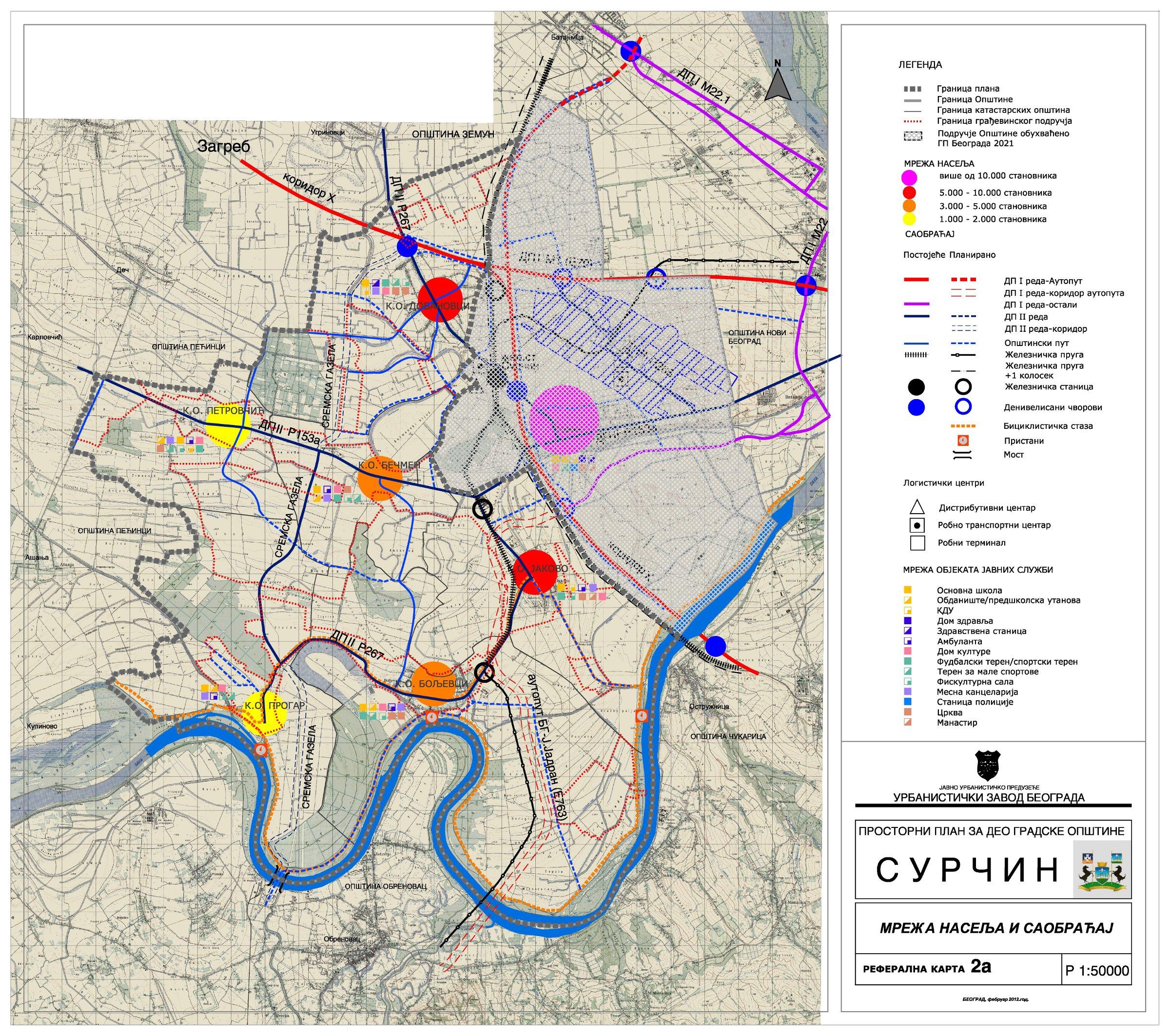 mapa beograda surcin Prostorni planovi – Urbanistički zavod Beograda mapa beograda surcin